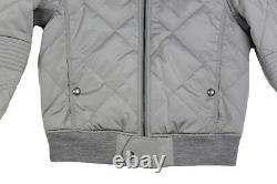 $1,995 Ralph Lauren Purple Label Mens Diamond Quilted Grey Bomber Jacket Coat S