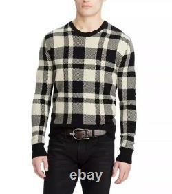 $1495 Ralph Lauren Purple Label Buffalo Cashmere Wool Crewneck Sweater Jumper