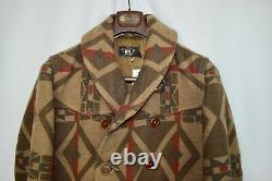 $1900 RRL Ralph Lauren Shawl Southwest Blanket Wool Pea Coat Jacket-Men Medium M
