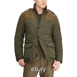 $2,695 Ralph Lauren Purple Label RLX Down Panel Wool Vest Puffer Jacket Coat NWT
