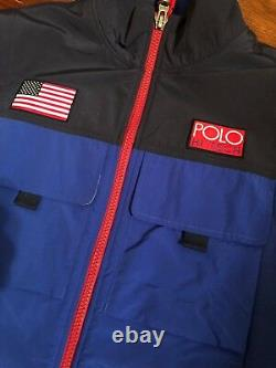 2018 NWT Polo Ralph Lauren Hi Tech Hybrid Vest sz L Navy/Royal Stadium pwing