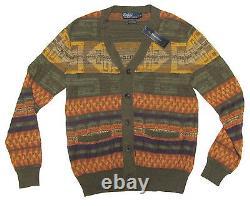 $295 Polo Ralph Lauren Mens Southwestern Cashmere Knit Cardigan Sweater Jacket