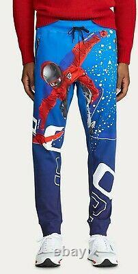 $348 Polo Ralph Lauren Men Alpine Suicide Skier Ski 92 Graphic Jogger Sweatpants