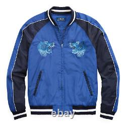 $495 Polo Ralph Lauren Chairman Varsity Tiger Satin Souvenir Bomber Jacket LTD