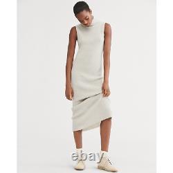 $498 Polo Ralph Lauren Womens Grey Ribbed Cashmere Turtleneck Maxi Dress NWT