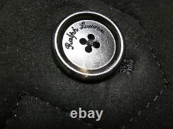 $5995 polo ralph lauren purple label leather shearling jacket fur coat Italy XL