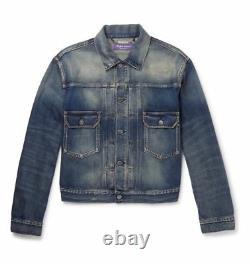 $795 Ralph Lauren Purple Label Italy Mens Perry Denim Jean Trucker Jacket NWT