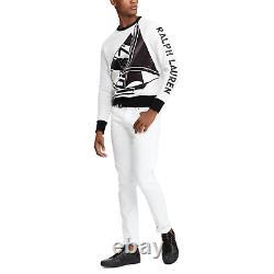 $795 Ralph Lauren Purple Label Matte Sailing Graphic Logo Sweatshirt Sweater NWT
