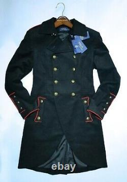 $798 RALPH LAUREN BLUE LABEL WOMEN OFFICER'S MILITARY JACKET/BLAZER Size6