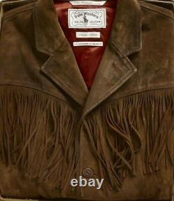 Double Ralph Lauren RRL Mens Polo Western Limited Edition Brown Suede Jacket NWT