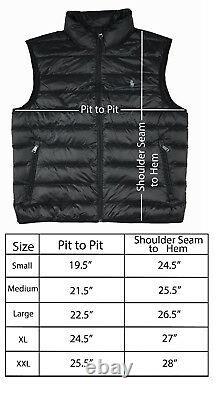 Men Polo Ralph Lauren DOWN FILLED Puffer Vest Jacket Packable Size S M L XL XXL