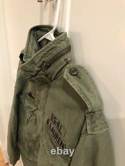 Mens Ralph Lauren Polo USA American Military Field Jacket Olive Green Medium