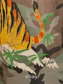 NEW Polo Ralph Lauren Military Camo Tiger Japan Over shirt Jacket very RRL L