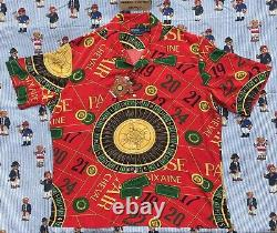 NEW Ralph Lauren POLO Roulette Casino Caldwell red camp rayon shirt XXL rare NWT