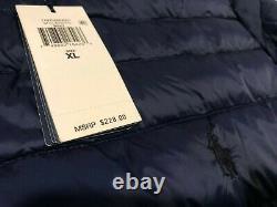 NWT $228.00 Polo Ralph Lauren Mens Down Insulated Puffer Jacket Navy Size XL