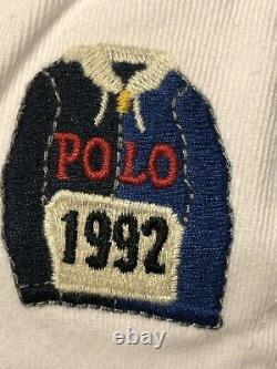 NWT Polo Ralph Lauren 1992 P-Wing Stadium White Cap Hat Chariots USA Patch