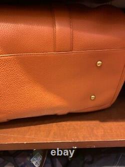 NWT Polo Ralph Lauren CAMEL Brown Tailored Full Grain Pebble Leather Duffle Bag