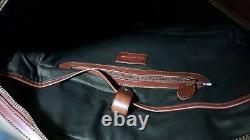 NWT Polo Ralph Lauren Men's Green Twill Canvas /Leather Commuter Messenger Bag