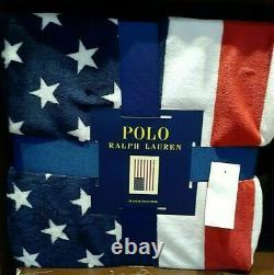 NWT Ralph Lauren Polo Bear Throw Blanket, Thick & Plush