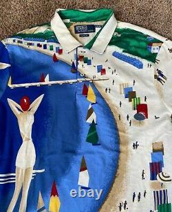 NWT Ralph Lauren Polo Riviera Shirt MENS L Regatta Sailing Crest CP-93 Limited