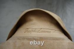 NWT Ralph Lauren Purple Label Iconic Aviator Henfield Suede Leather M Medium $5K