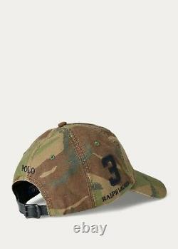 NWTPolo Ralph Lauren Camouflage Baseball Cap, Big Pony