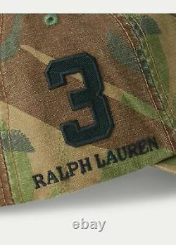NWTPolo Ralph Lauren Camouflage Baseball Cap WithBig Pony
