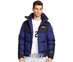 New Men Ralph Lauren Polo Sport Sideline 650 Down Winter Jacket Navy Blue