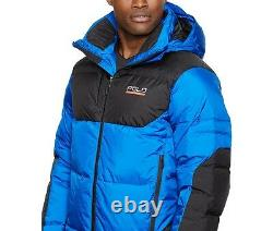 New Men Ralph Lauren Polo Sport Sideline 650 Down Winter Jacket Sapphire Blue