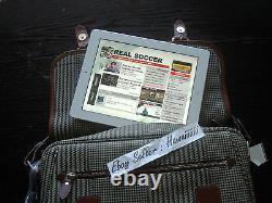 New Polo Ralph Lauren Houndstooth Messenger Travel / Work Tablet Laptop Bag