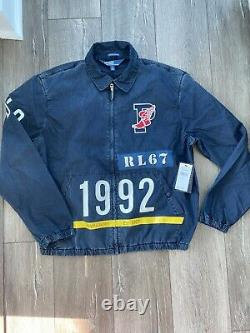 New Polo Ralph Lauren P Wing Indigo Stadium Jacket Mens Size M L RRL 1992 $250