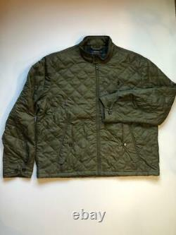 New Quilted Polo Ralph Lauren Jacket Windbreaker Lightweight Army Olive Green