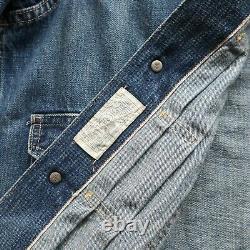 New RRL Double RL Ralph Lauren Type 2 Selvedge Denim Jean Jacket Size M Vtg