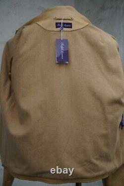 New Ralph Lauren Purple Label Leather Tan Aviator M Medium $5k