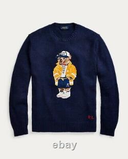Nwt $398 Polo Ralph Lauren Mens 2xl Summer 2020 Cp-93 Sailing Bear Navy Sweater