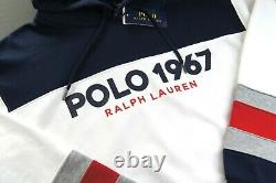 POLO RALPH LAUREN Men's Colorblock POLO 1967 Fleece Pullover Hoodie NEW NWT