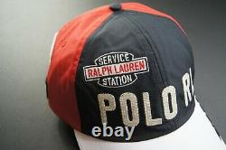 POLO RALPH LAUREN Men's Colorblock POLO RL Racing Long Bill Cap NEW NWT