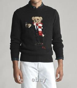 POLO RALPH LAUREN Men's Polo Cocoa Bear Cotton Blend Pullover Sweater NEW NWT