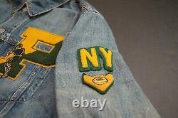 POLO RALPH LAUREN Men's Tiger Patchwork NY Football Denim Jackets NEW NWT