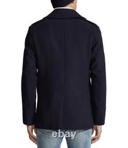 POLO RALPH LAUREN Men's Wool Blend Peacoat Jacket Navy Blue NEW NWT $598