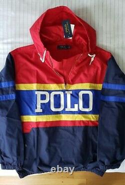 POLO Ralph Lauren Multi-color Pullover Hoodie Hi-Tech Pwing 92 Stadium Ski CP-93