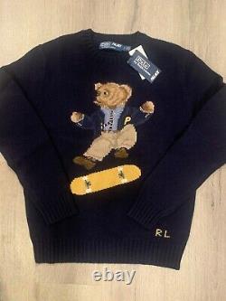 Palace Ralph Lauren Skate Polo Bear Sweater Aviator Navy Small