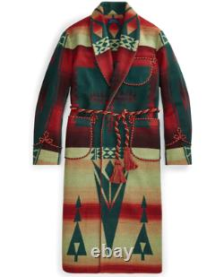 Polo Country Ralph Lauren Wool Southwestern Aztec Navajo Robe Jacket Coat Tribal