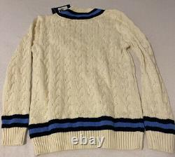 Polo Golf Ralph Lauren Cable Knit Tennis Cricket Sweater Mens Medium