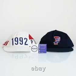 Polo Ralph Lauren 1992 Stadium P Wing Hat White Navy S M L XL Snow Beach