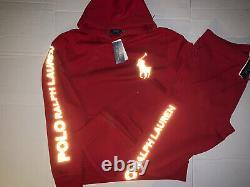 Polo Ralph Lauren 3M Sweat suit Jogger+Hoodie Double Knit Hi Tech Fleece Sz L