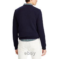 Polo Ralph Lauren 50th Anniversary Wool Denim USA Flag Bear Sweater New $398