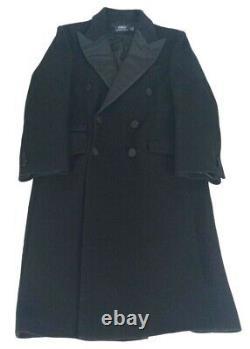 Polo Ralph Lauren $798 Double Breasted Wool Tuxedo Coat Black Women's, Size 8