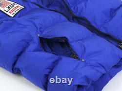 Polo Ralph Lauren Big Pony Hooded Puffer Down Vest withUSA Patch Sapphire