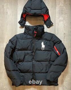 Polo Ralph Lauren Big Pony Mens Hooded Down Puffer Jacket Coat Black Sz 2XLT NEW